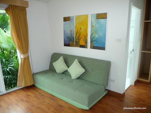 palm paradise resort krabi chalet sofa
