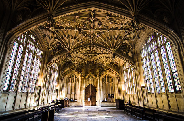 oxford england united kingdom university divinity school Bodleian Library harry potter infirmary