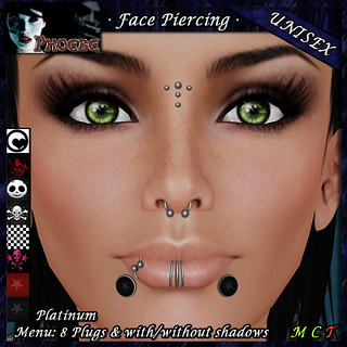 *P* Unisex Face Piercings Z3 ~ 8 Plugs ~ TDTH Gift