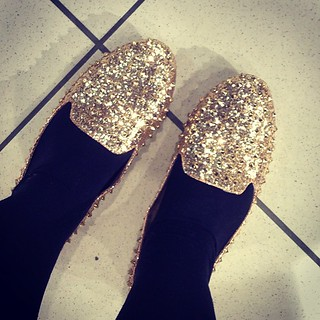So sparkly, also studded! Didn't buy these though, don't think I'd ever pay £40 for new look flats