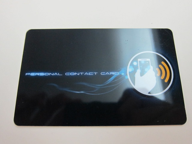 Personal Contact Card (Close Up)
