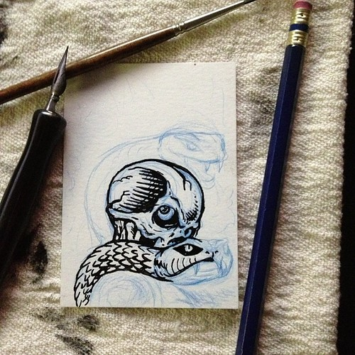 New Death Viper sketch card coming along nicely by Bebop'n