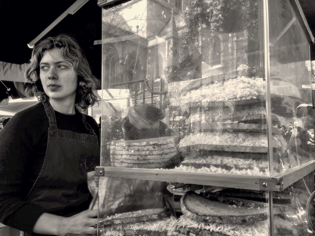 Borough Market - Cheese toast lady
