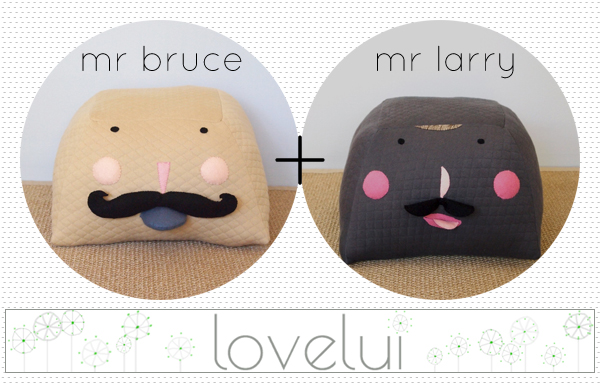 sponsor spotlight : mr bruce and mr larry, handmade ottomans by Lovelui | Emma Lamb