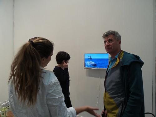 Maurizio Cattelan in #MiArt2014 by Ylbert Durishti