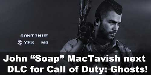 "Infinity Ward teasing John ""Soap"" MacTavish DLC skin for Call of Duty: Ghosts"