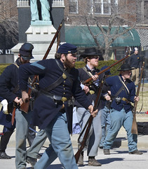 Civil War Charleston riot reenactment