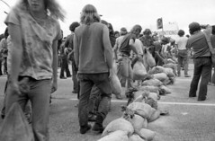 Anti-Vietnam War Protesters Block Street: 1972