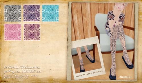 NuDoLu Collants/Chaussettes gothiques set B AD