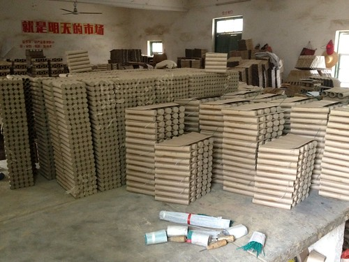 Room Full Of Firework Tubes - Epic Fireworks China Trip 2012
