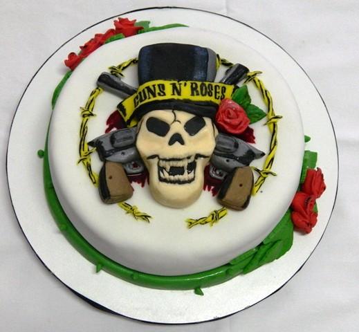 Cake Decor Group : guns n  roses cake www.facebook.com/pages/Ana-Fuji ...