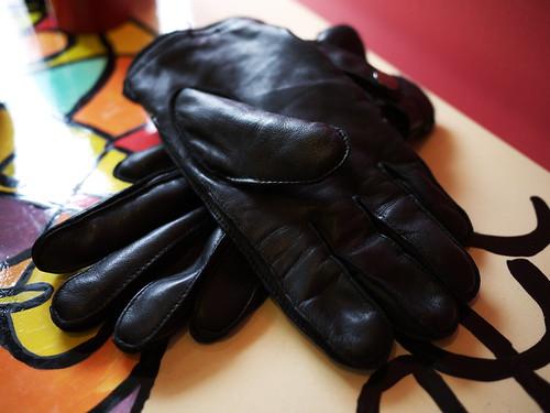 crossed gloves
