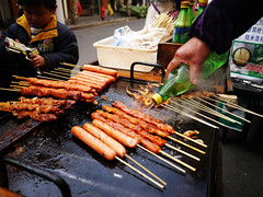 outdoor grill, barbecue, street food, meat, churrasco food, food, dish, cuisine, cooking,