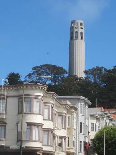 Coit Tower and Victorian Buildings