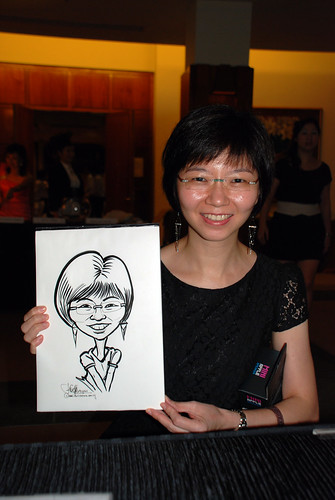 caricature live sketching for Rio Tinto Dinner & Dance - 4