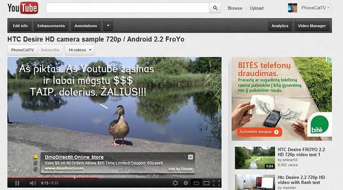 Kiekvienas gali uždirbti žalius iš Youtube!