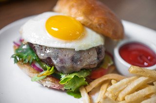 fried egg burger