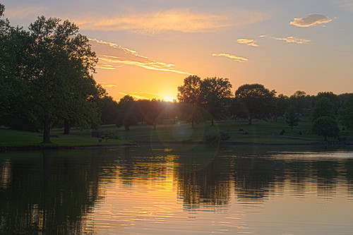 sunset pond kansas fortleavenworth