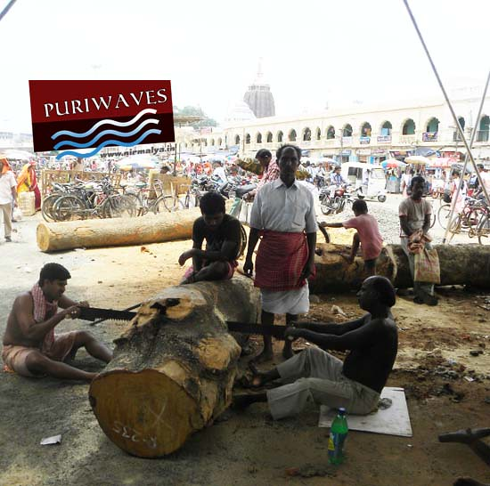 Cutting work of wood Rathyatra 2012