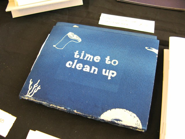 Time To Clean UP art book by Catherine Anne Hiley at The Market, April 28th 2012 | Emma Lamb