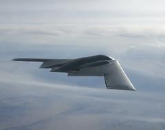 lockheed martin f-22 raptor(0.0), fighter aircraft(0.0), aviation(1.0), military aircraft(1.0), airplane(1.0), wing(1.0), vehicle(1.0), northrop grumman b-2 spirit(1.0), jet aircraft(1.0), flight(1.0), air force(1.0),