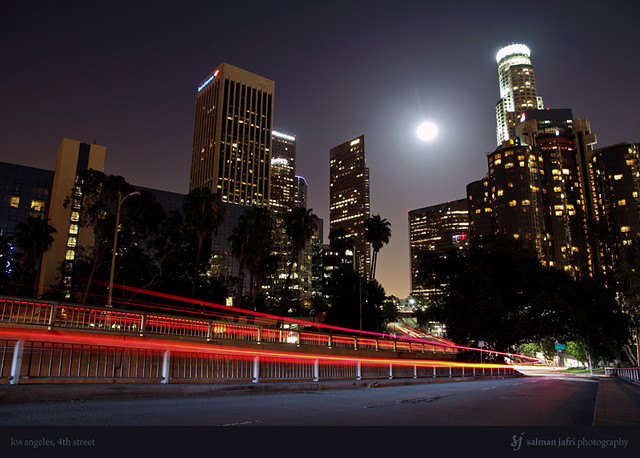 Los Angeles from 4th Street, Supermoon