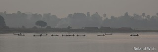 Fisher Boats on Taungthaman Lake