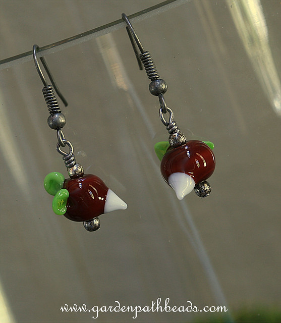 Luna Lovegood Lampwork Radish Earrings