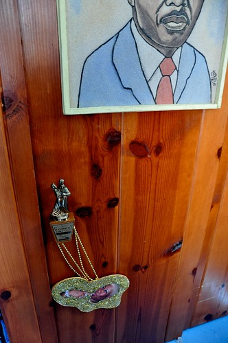 Trophy used as doorknob