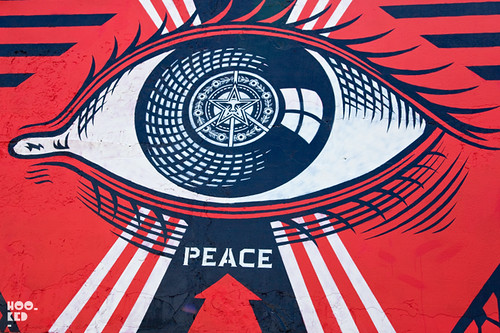 Shephard Fairey Mural. London Street Art