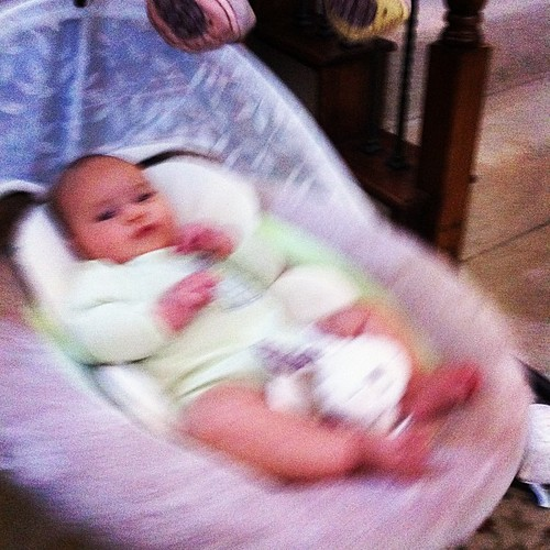 {Day 23} Happy girl after a ONE HOUR NAP in the swing - I'LL TAKE IT #movement #junephotoaday #catchup
