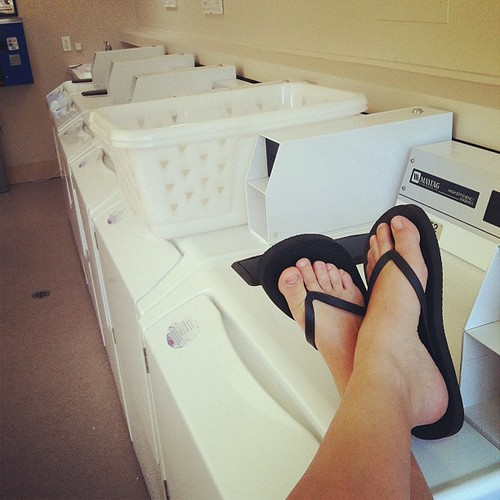 Queen of the laundromat.