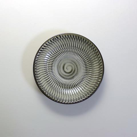 坂本浩二窯 4寸皿/飛びかんな