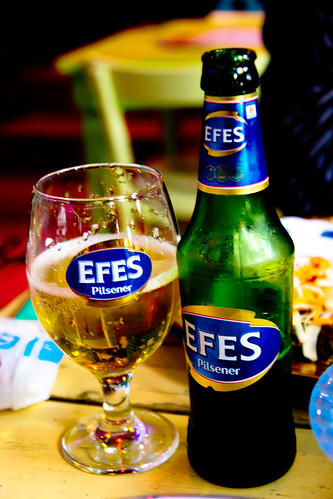 Efes Beer at Restaurant Bazar
