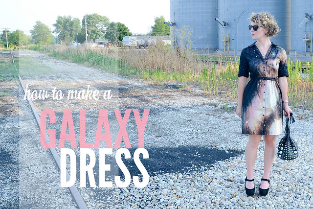 galaxy dress, diy, craft, snow day, free time