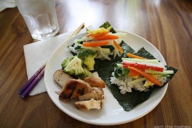 sushi dinner.