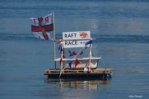 Swanage Lifeboat Raft Race 18th August 2012 by julian sawyer