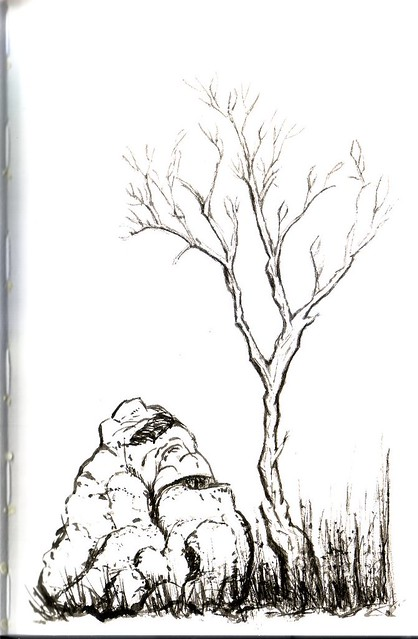 Chinese Brush Painting in Stillman & Birn Alpha Sketchbook