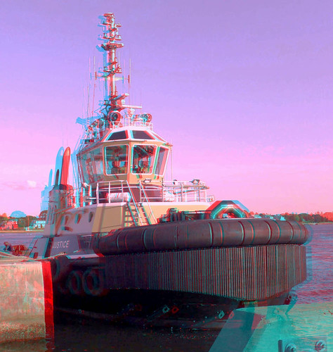 justice 3d anaglyph stereo tugboat capecodcanal massmaritimeacademy