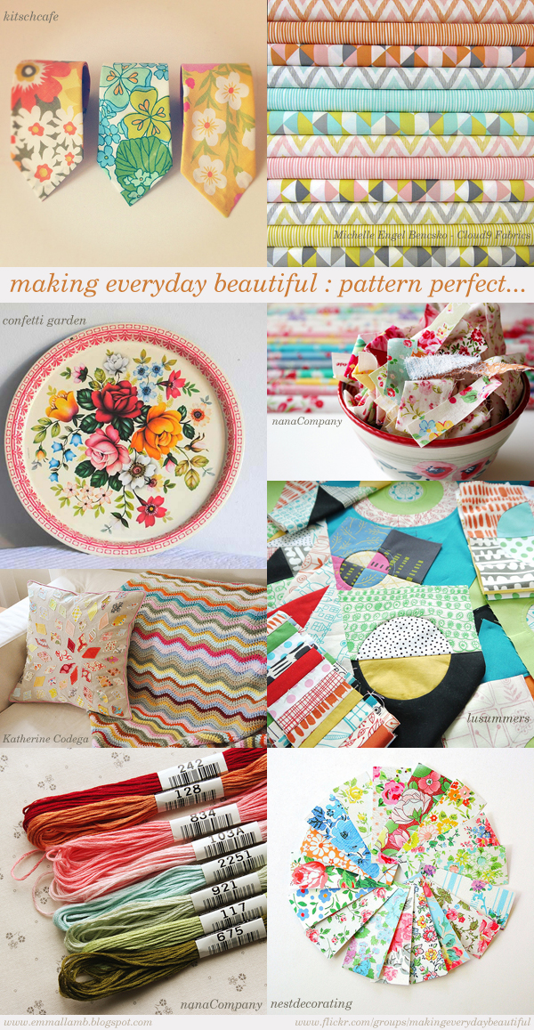 making everyday beautiful : pattern perfect | Emma Lamb