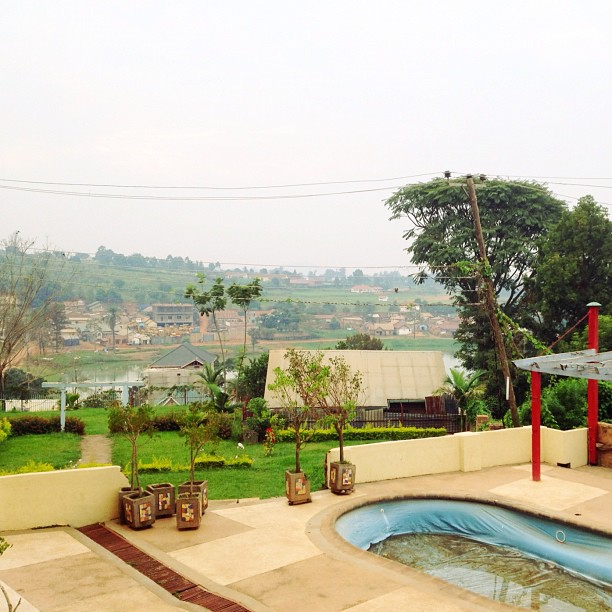 View from my crib here in Kampala.