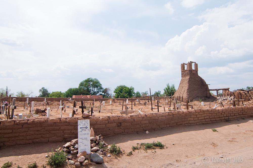 Cemetery in Taos Pueblo