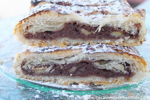 Trenzas hojaldradas de chocolate y plátano (14)