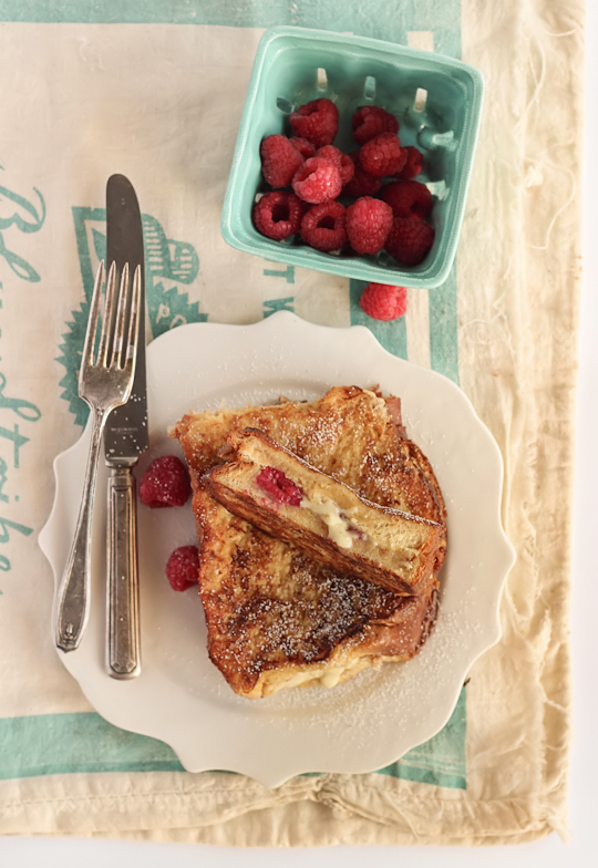 White Chocolate & Raspberry French Toast