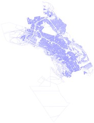 Oakland parcel boundaries