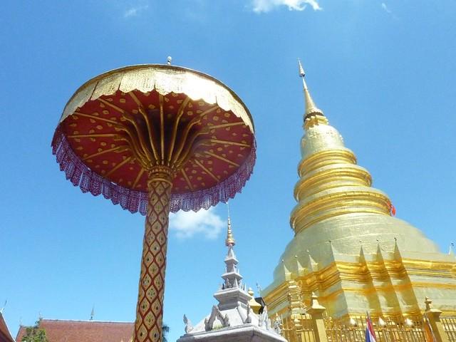 011 Golden Chedi and Parasol, Wat Phra That Haripunchai, Lamphun