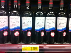 Wine at Spanish supermarket