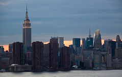 Empire State Building & NYC Skyline Viewed from the Wythe Hotel - Brooklyn