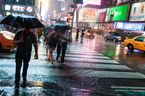 Tourists in a Times Square downpour | by Dan Nguyen @ New York City