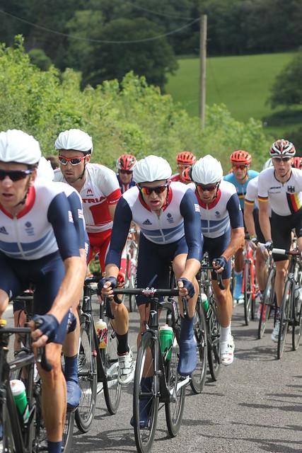 Olympics mens road race 2012 team gb on box hill circuit